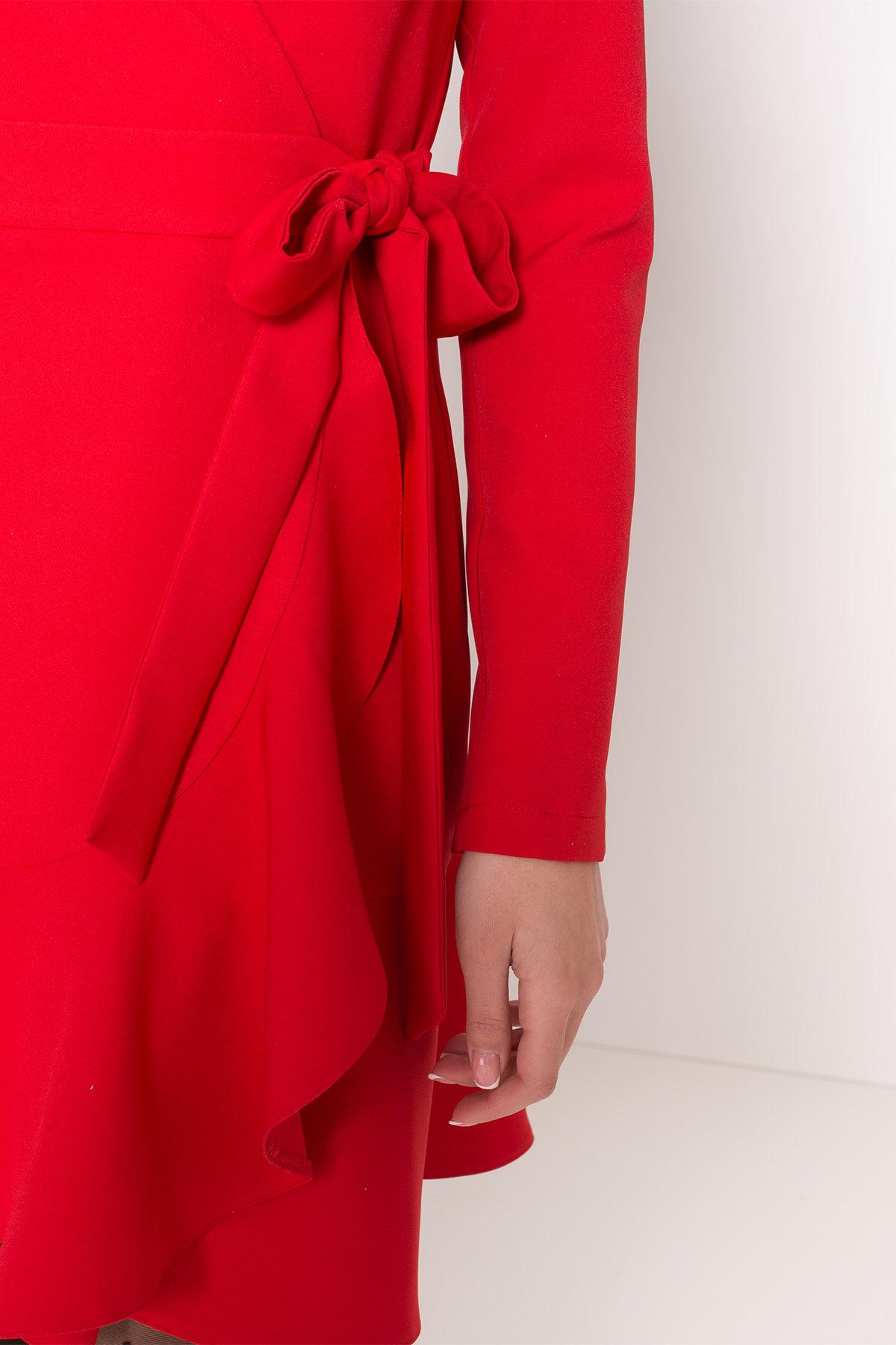 Однотонное платье на запах Фламенко 8336 АРТ. 44858 Цвет: Красный - фото 7, интернет магазин tm-modus.ru