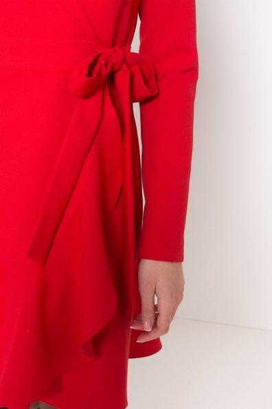 Однотонное платье на запах Фламенко 8336 Цвет: Красный