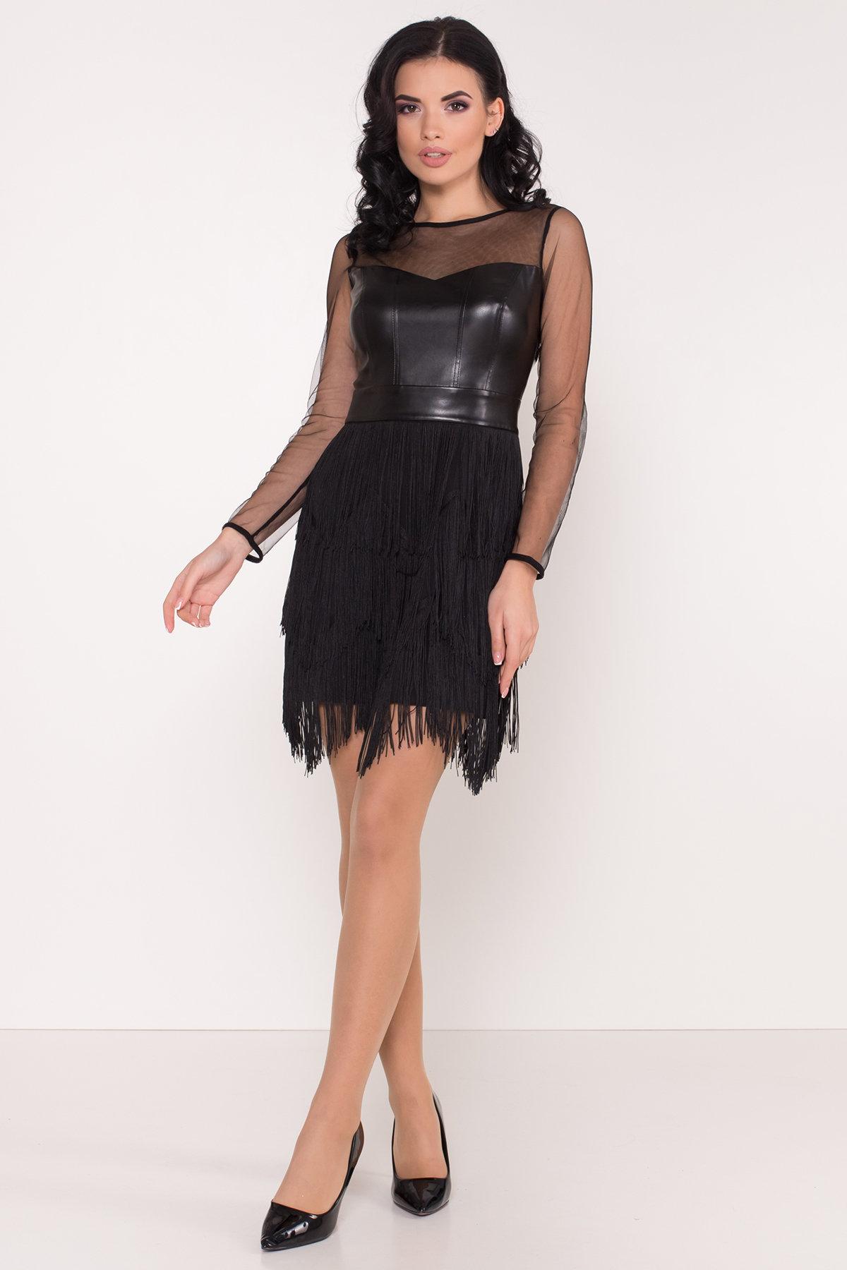 Платье Монталь 8558 АРТ. 44883 Цвет: Черный - фото 2, интернет магазин tm-modus.ru