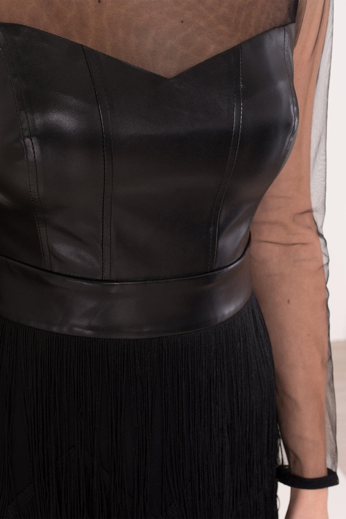 Платье Монталь 8558 АРТ. 44883 Цвет: Черный - фото 8, интернет магазин tm-modus.ru