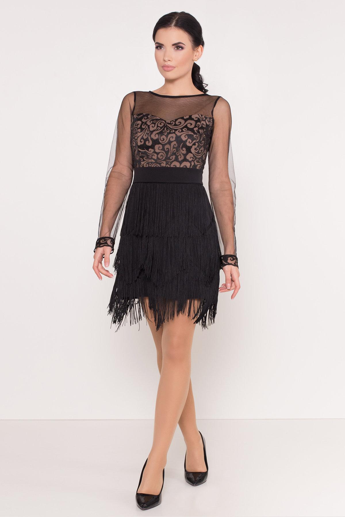 Платье Херви 8560 АРТ. 44884 Цвет: Черный - фото 1, интернет магазин tm-modus.ru