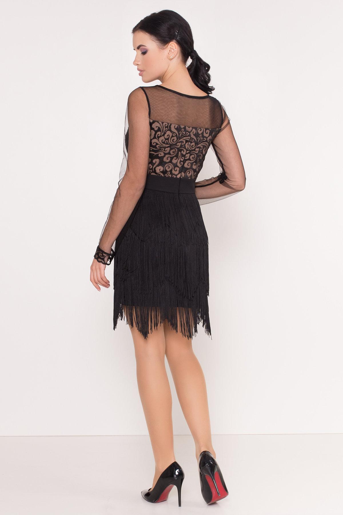 Платье Херви 8560 АРТ. 44884 Цвет: Черный - фото 3, интернет магазин tm-modus.ru