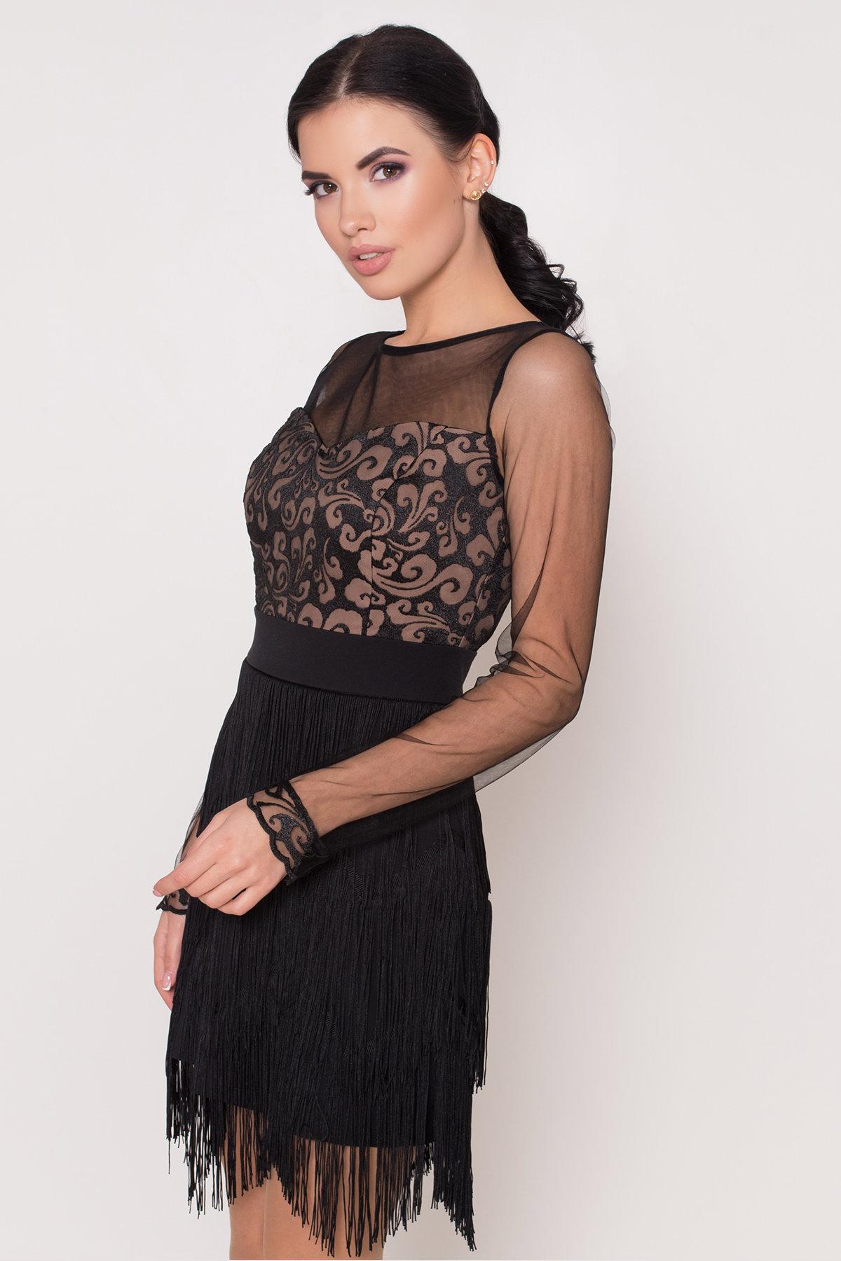 Платье Херви 8560 АРТ. 44884 Цвет: Черный - фото 5, интернет магазин tm-modus.ru