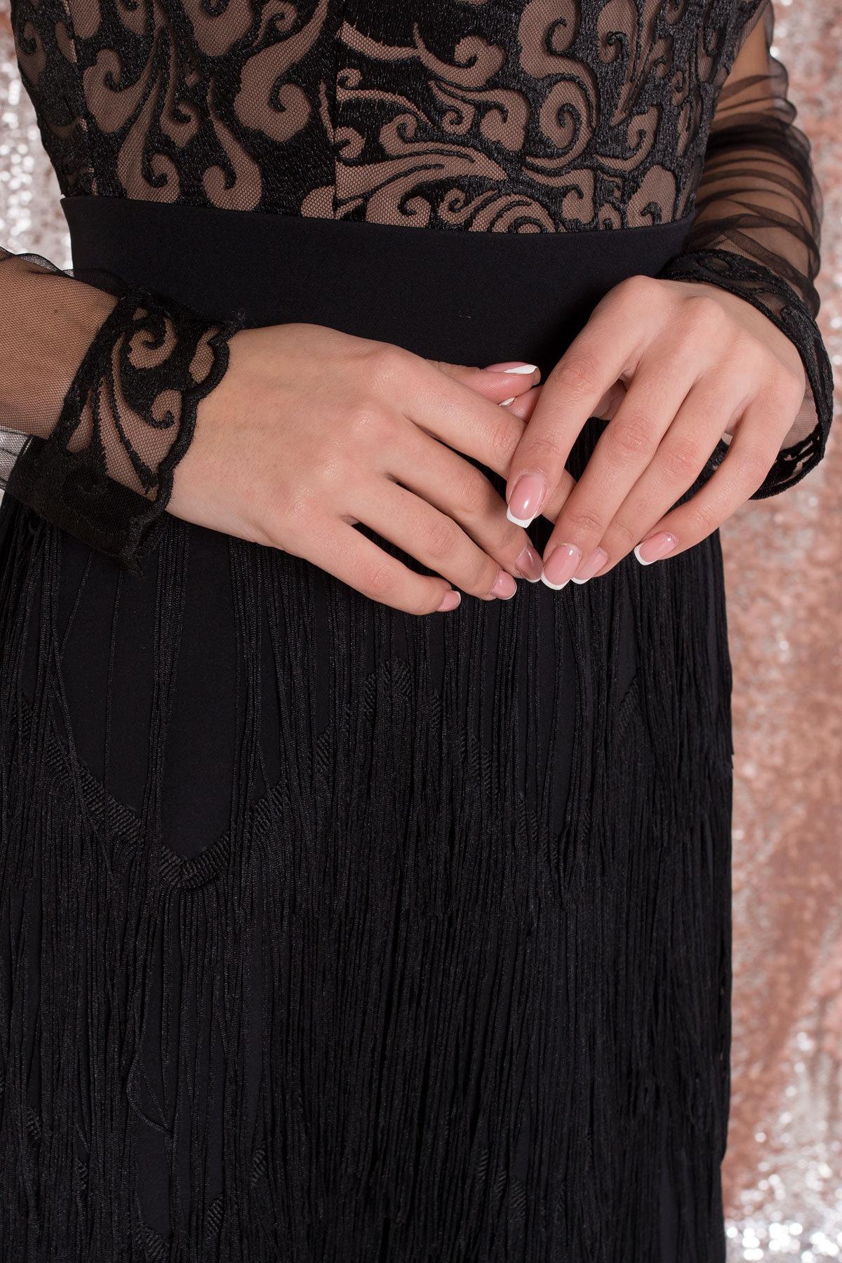 Платье Херви 8560 АРТ. 44884 Цвет: Черный - фото 8, интернет магазин tm-modus.ru