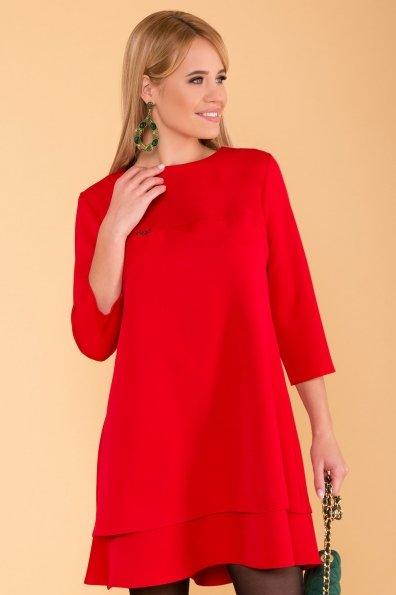 Двухуровневое платье Далафер 8517 Цвет: Красный