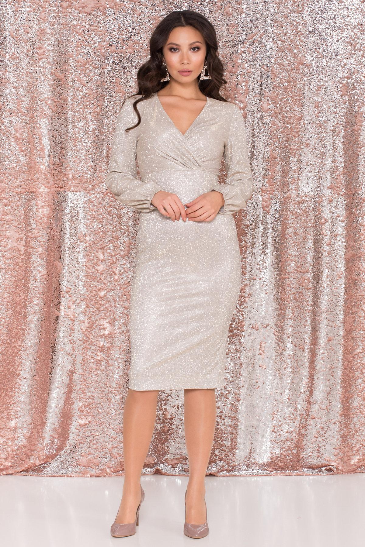Платья от производителя Нарядное платье с люрексом Фаселис 8527