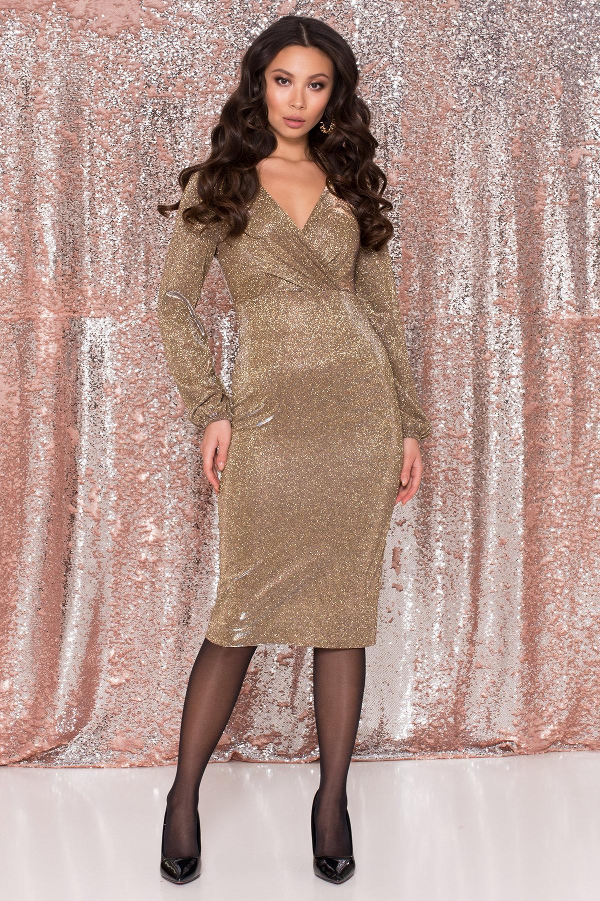 Платья оптом Украина недорого от Модус Нарядное платье с люрексом Фаселис 8527