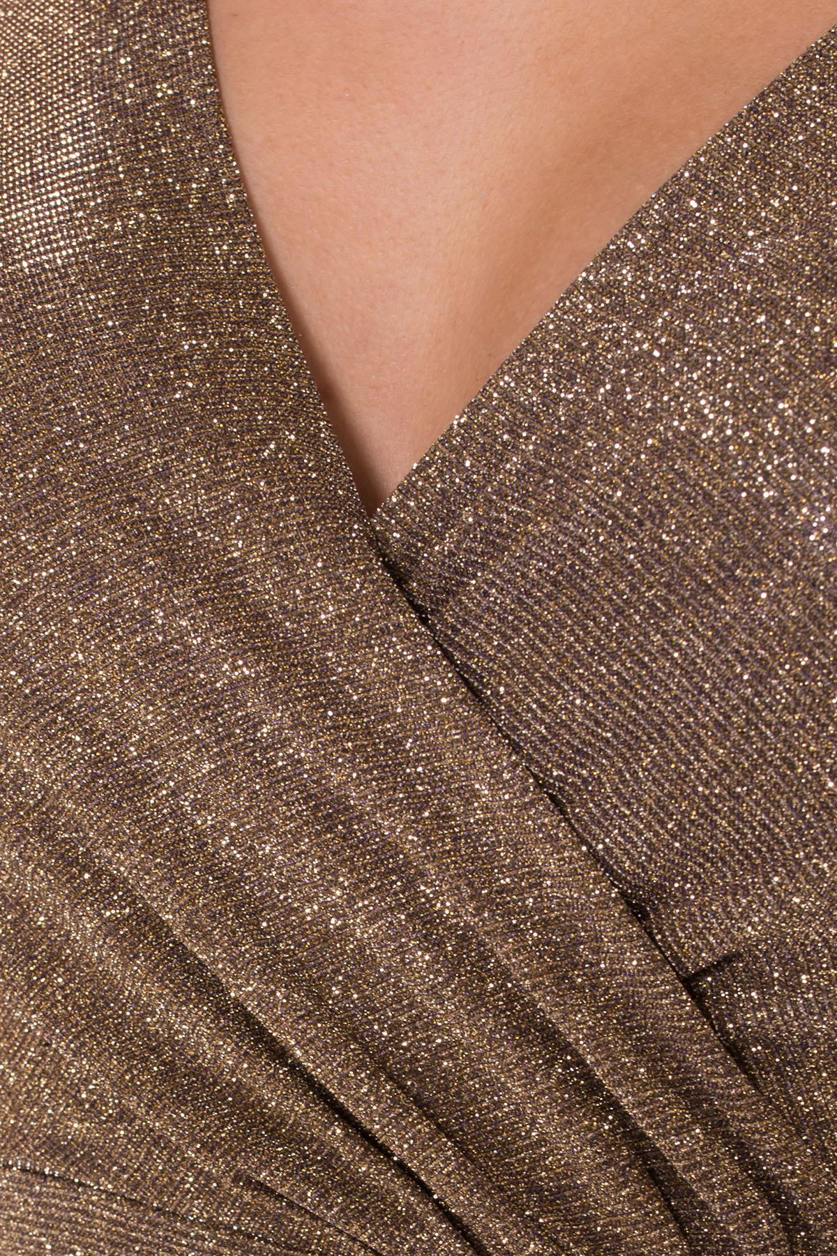 Нарядное платье с люрексом Фаселис 8527 АРТ. 44894 Цвет: Золото/серебро - фото 7, интернет магазин tm-modus.ru