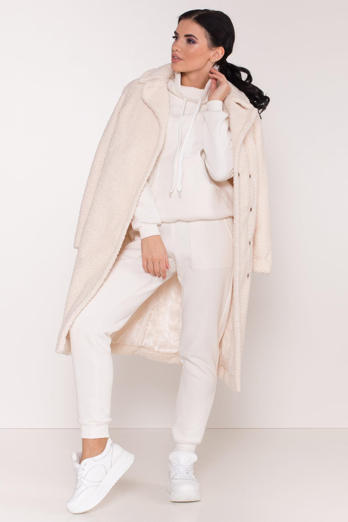 Пальто из эко меха Приора 8564 АРТ. 44887 Цвет: Молоко - фото 3, интернет магазин tm-modus.ru