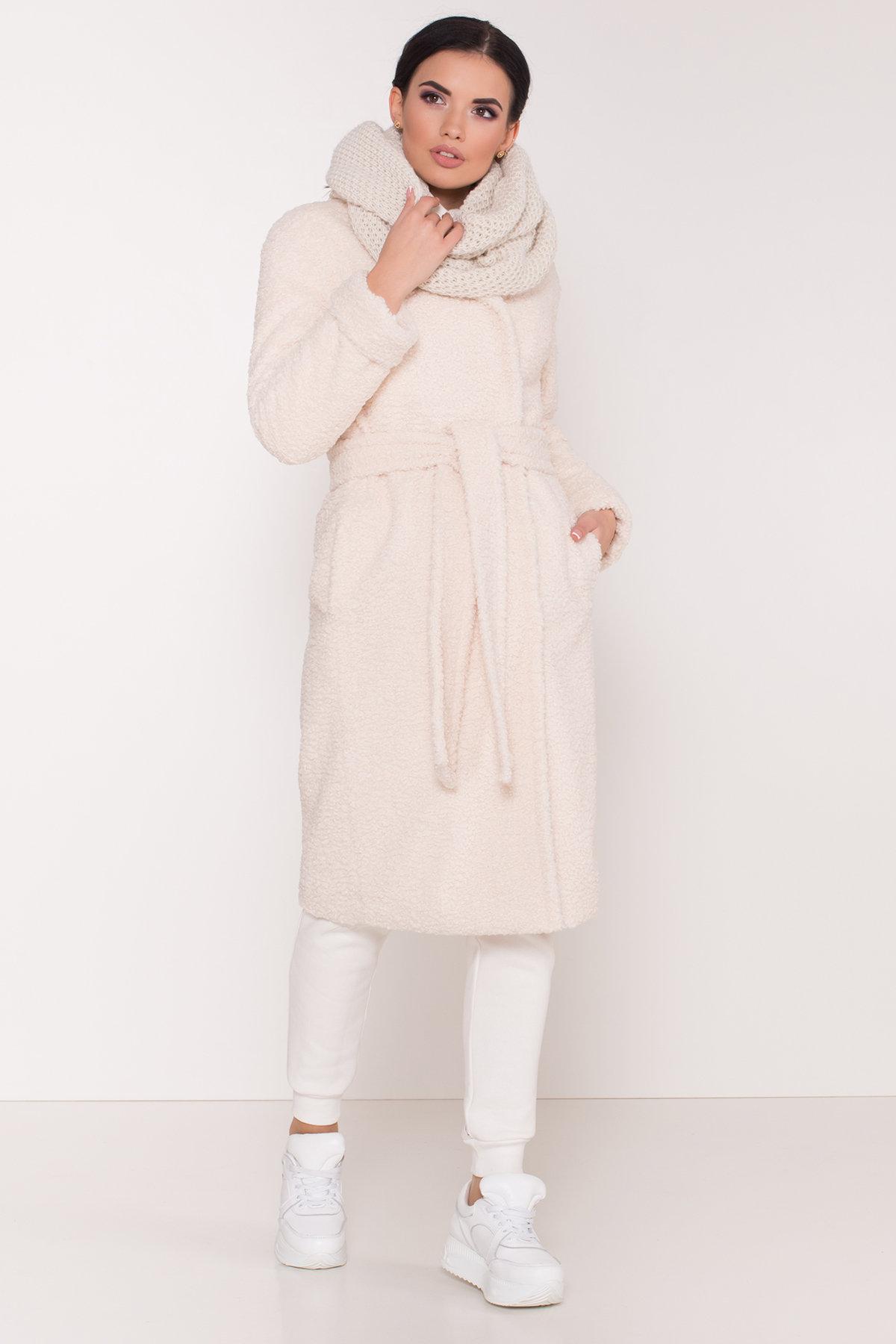 Пальто из эко меха Приора 8564 АРТ. 44887 Цвет: Молоко - фото 6, интернет магазин tm-modus.ru