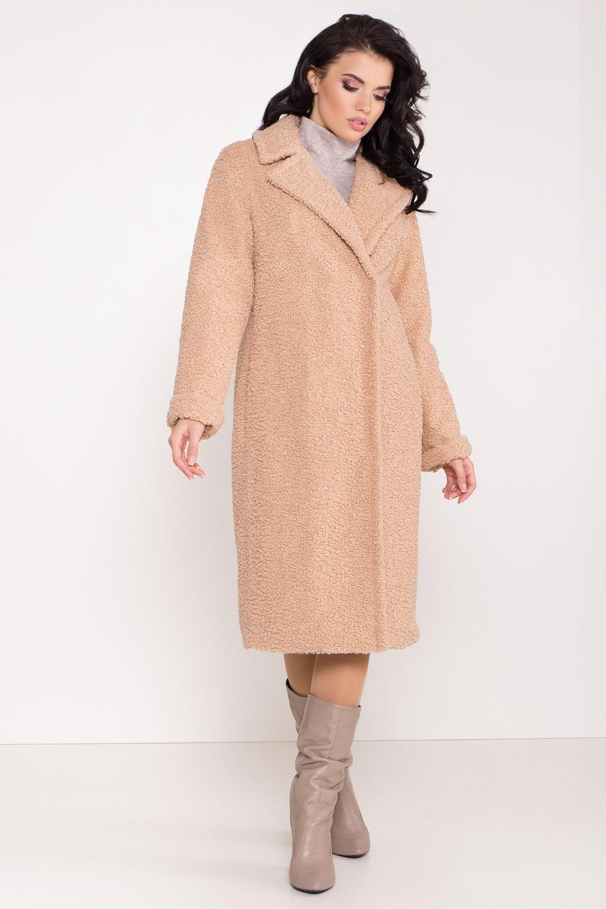 Пальто из эко меха Приора 8564 АРТ. 44886 Цвет: Бежевый - фото 4, интернет магазин tm-modus.ru