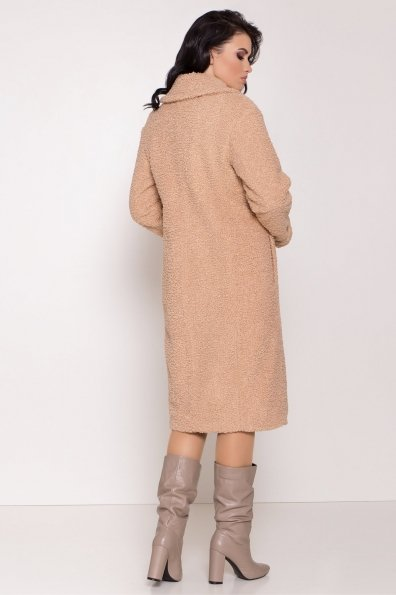 Пальто из эко меха Приора 8564 Цвет: Бежевый