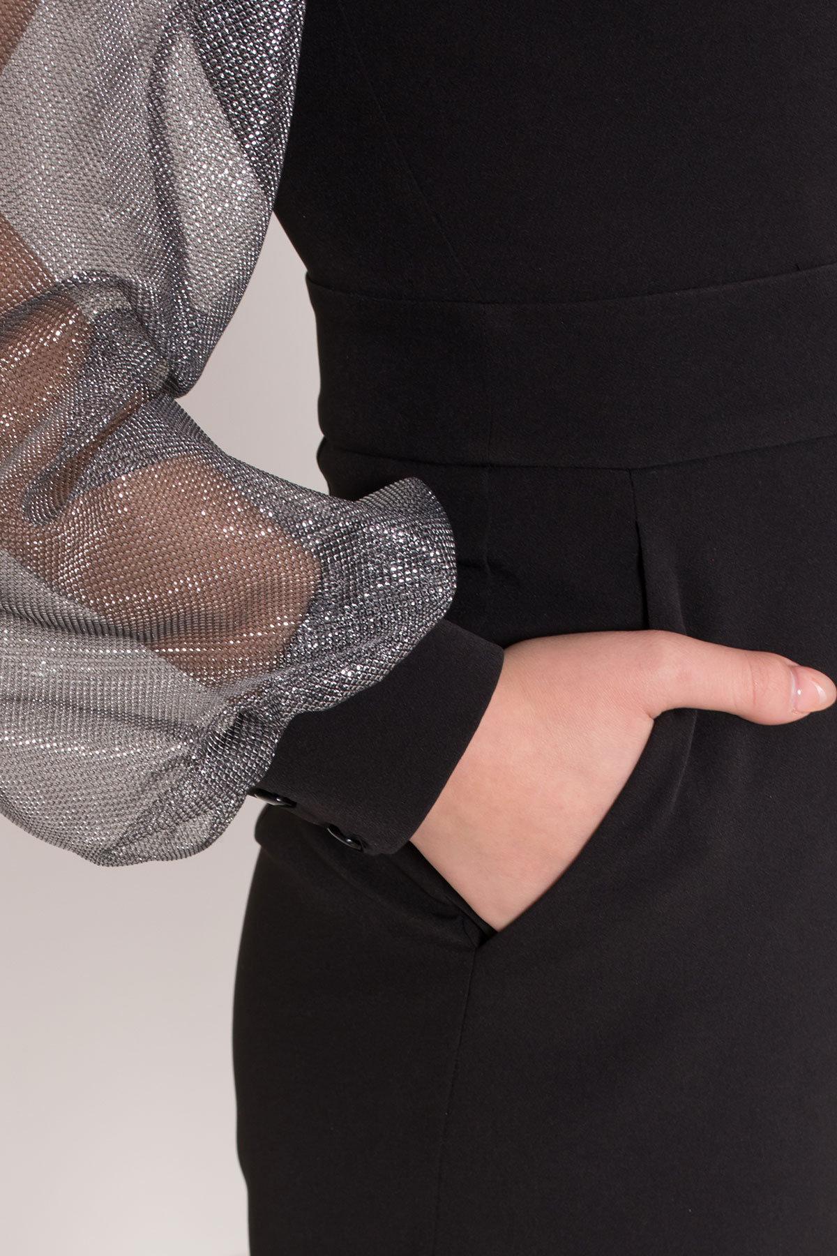 Комбинезон с шортами черного цвета Набель 8566 АРТ. 44881 Цвет: Черный - фото 7, интернет магазин tm-modus.ru
