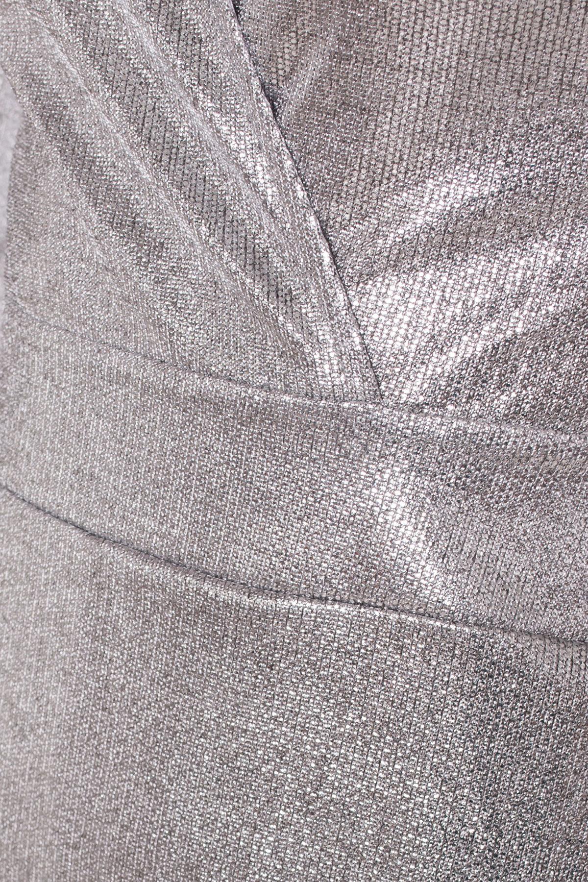 Комбинезон с шортами цвета металлик Шелли 8553 АРТ. 44892 Цвет: Серый/серебро - фото 7, интернет магазин tm-modus.ru