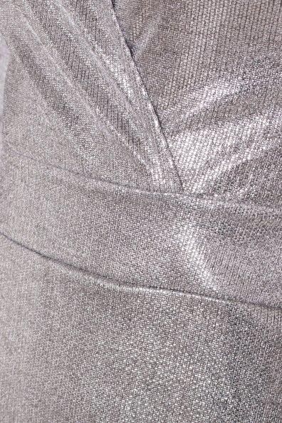 Комбинезон с шортами цвета металлик Шелли 8553 Цвет: Серый/серебро
