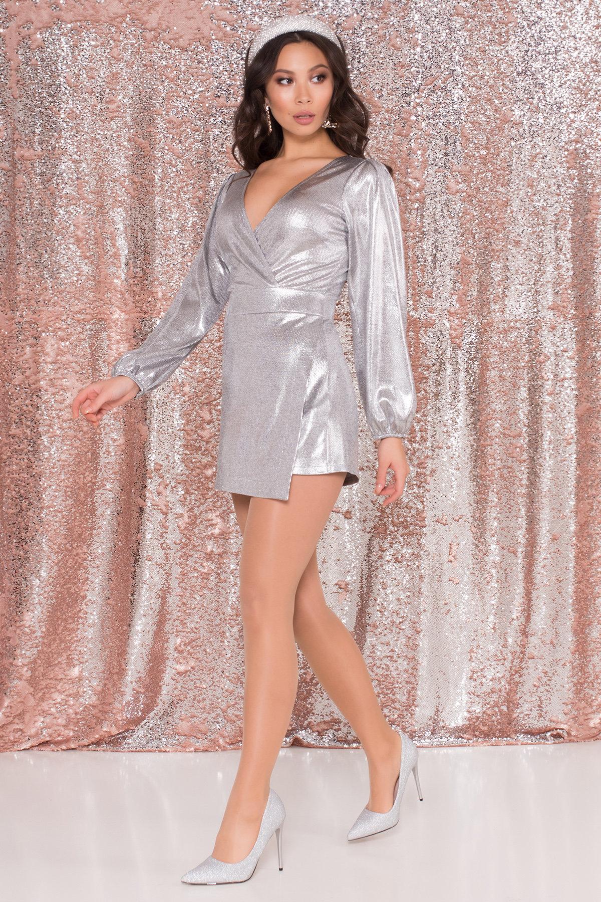 Купить женское платье Комбинезон с шортами цвета металлик Шелли 8553