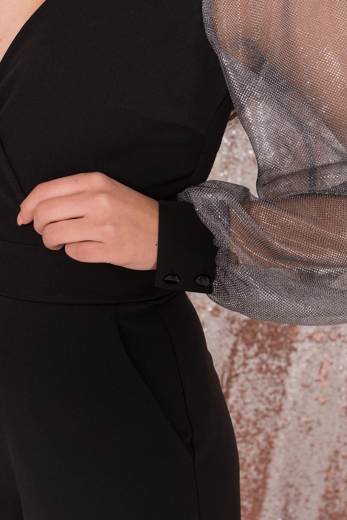 Комбинезон с шортами черного цвета Набель 8566 АРТ. 44881 Цвет: Черный - фото 8, интернет магазин tm-modus.ru