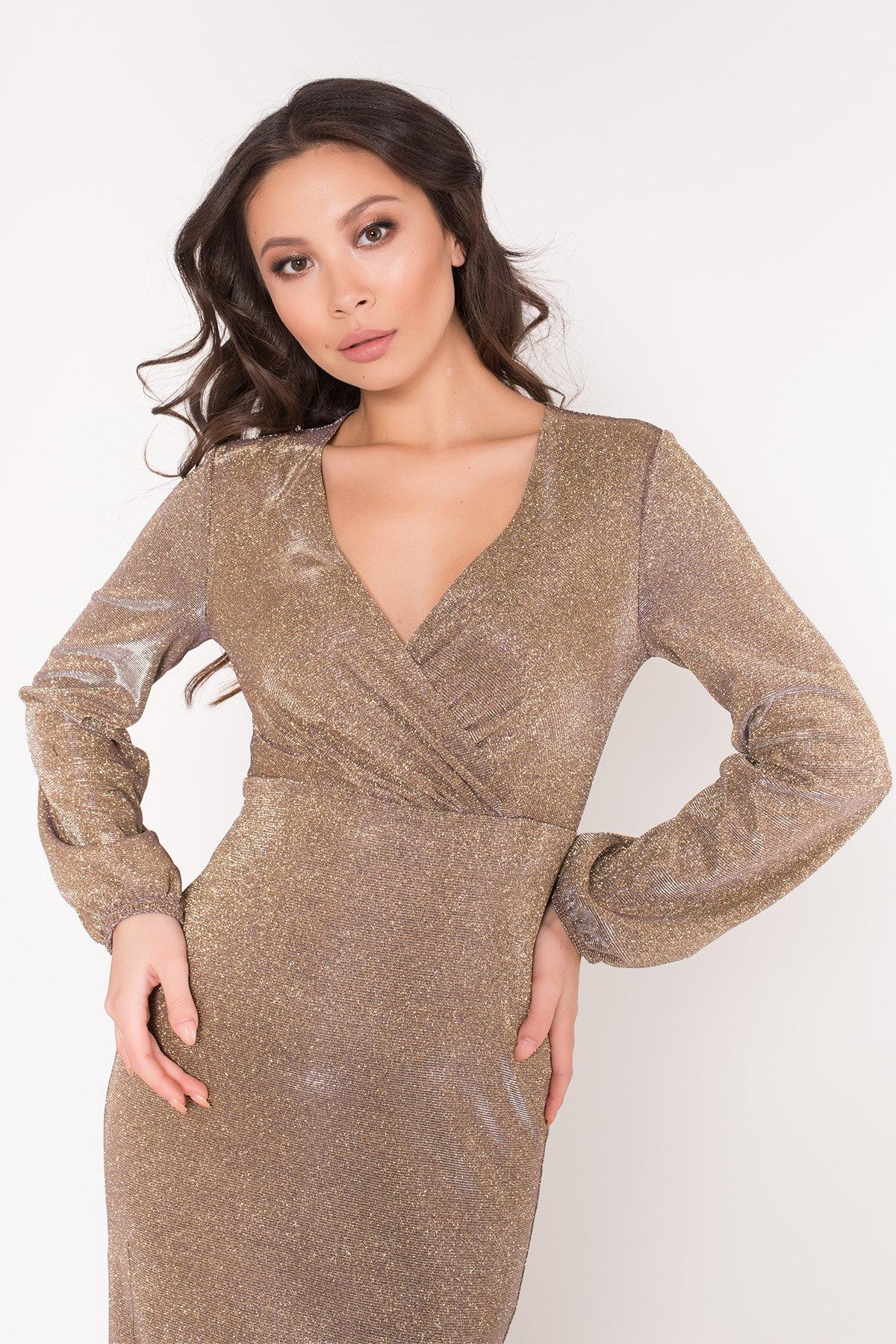 Нарядное платье с люрексом Фаселис 8527 АРТ. 44894 Цвет: Золото/серебро - фото 6, интернет магазин tm-modus.ru