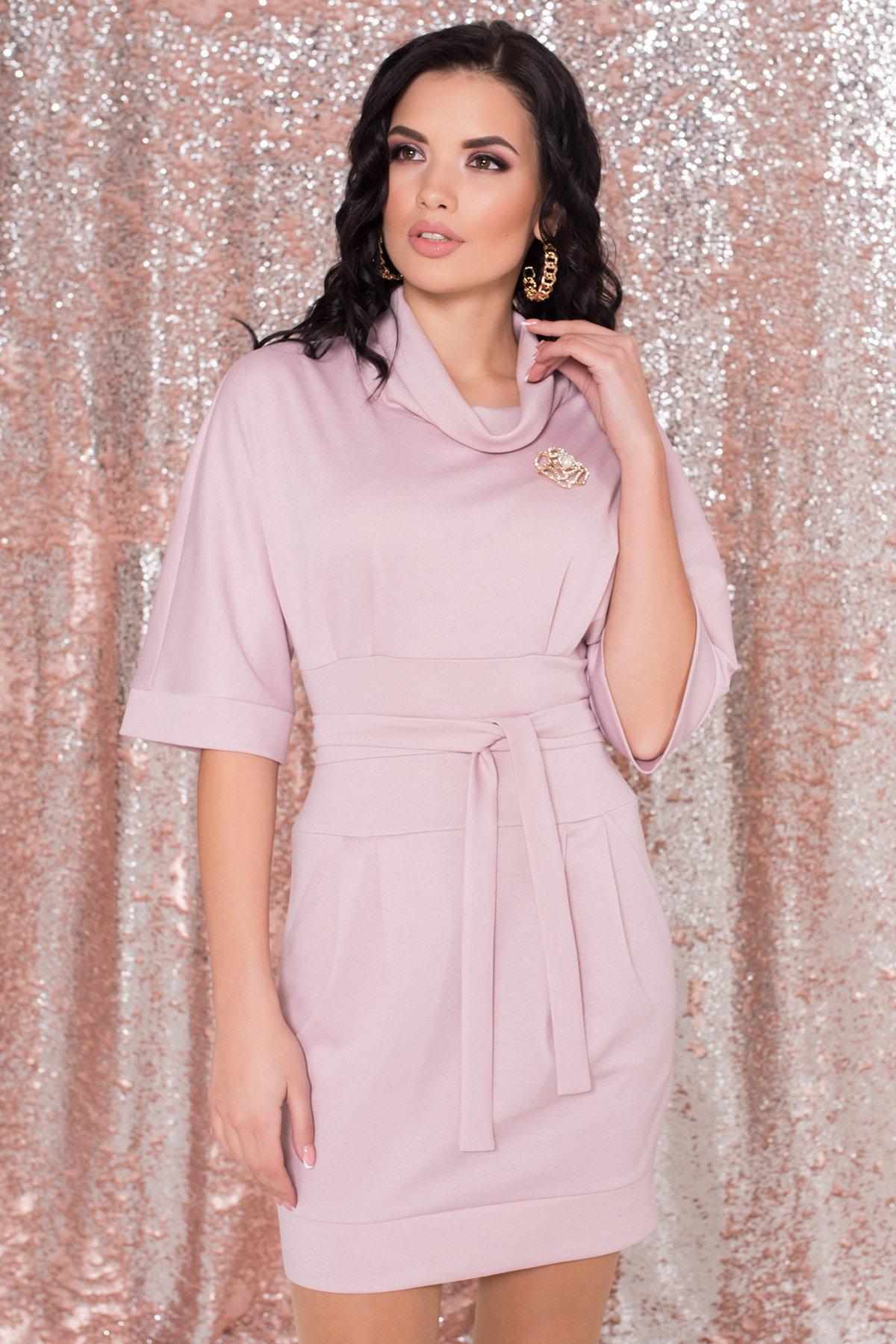 Трикотажное платье Вассаби 8478 АРТ. 44904 Цвет: розовый - фото 6, интернет магазин tm-modus.ru