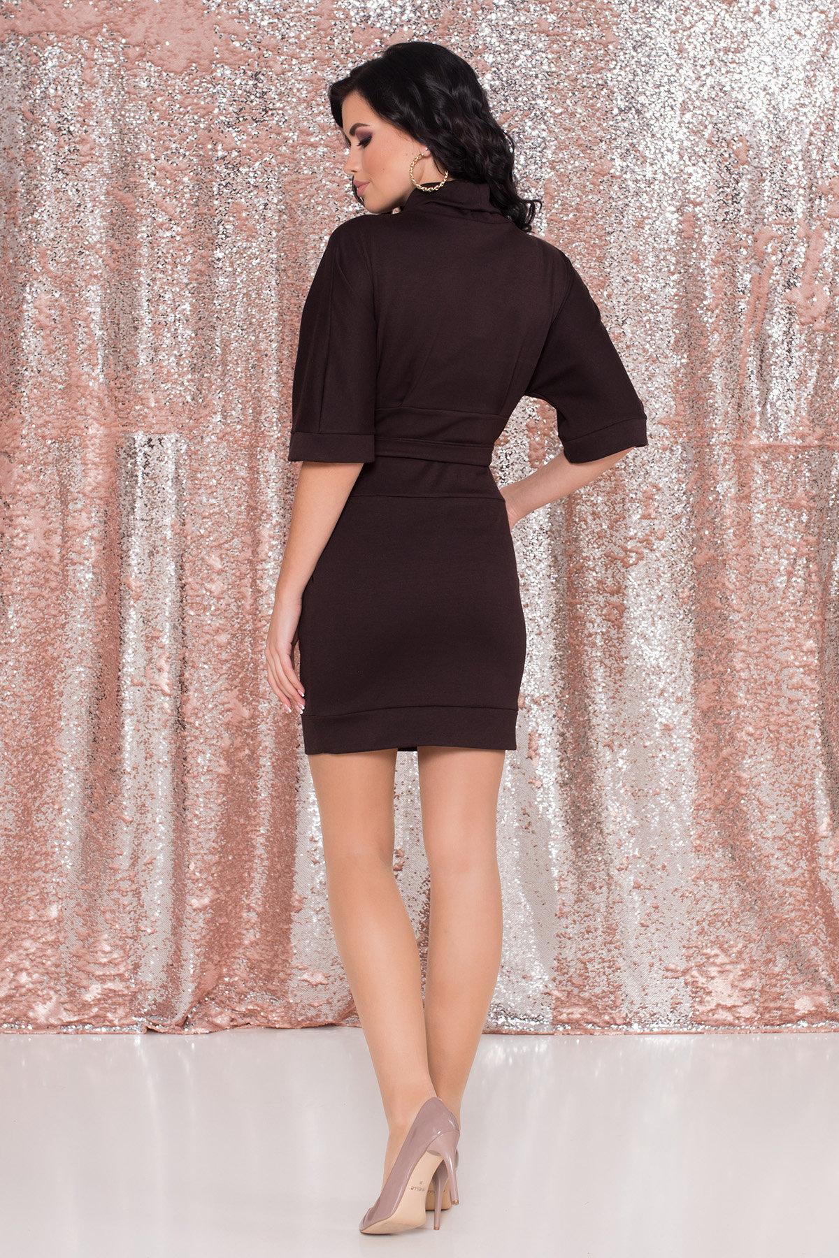 Трикотажное платье Вассаби 8478 АРТ. 44906 Цвет: Шоколад - фото 7, интернет магазин tm-modus.ru