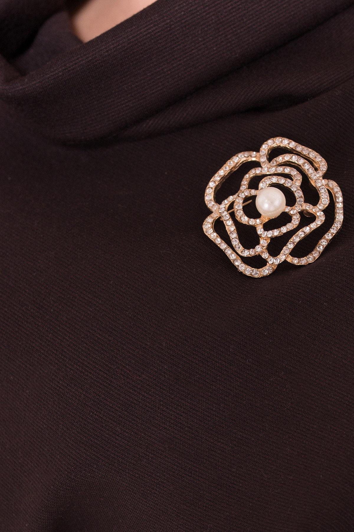 Трикотажное платье Вассаби 8478 АРТ. 44906 Цвет: Шоколад - фото 3, интернет магазин tm-modus.ru