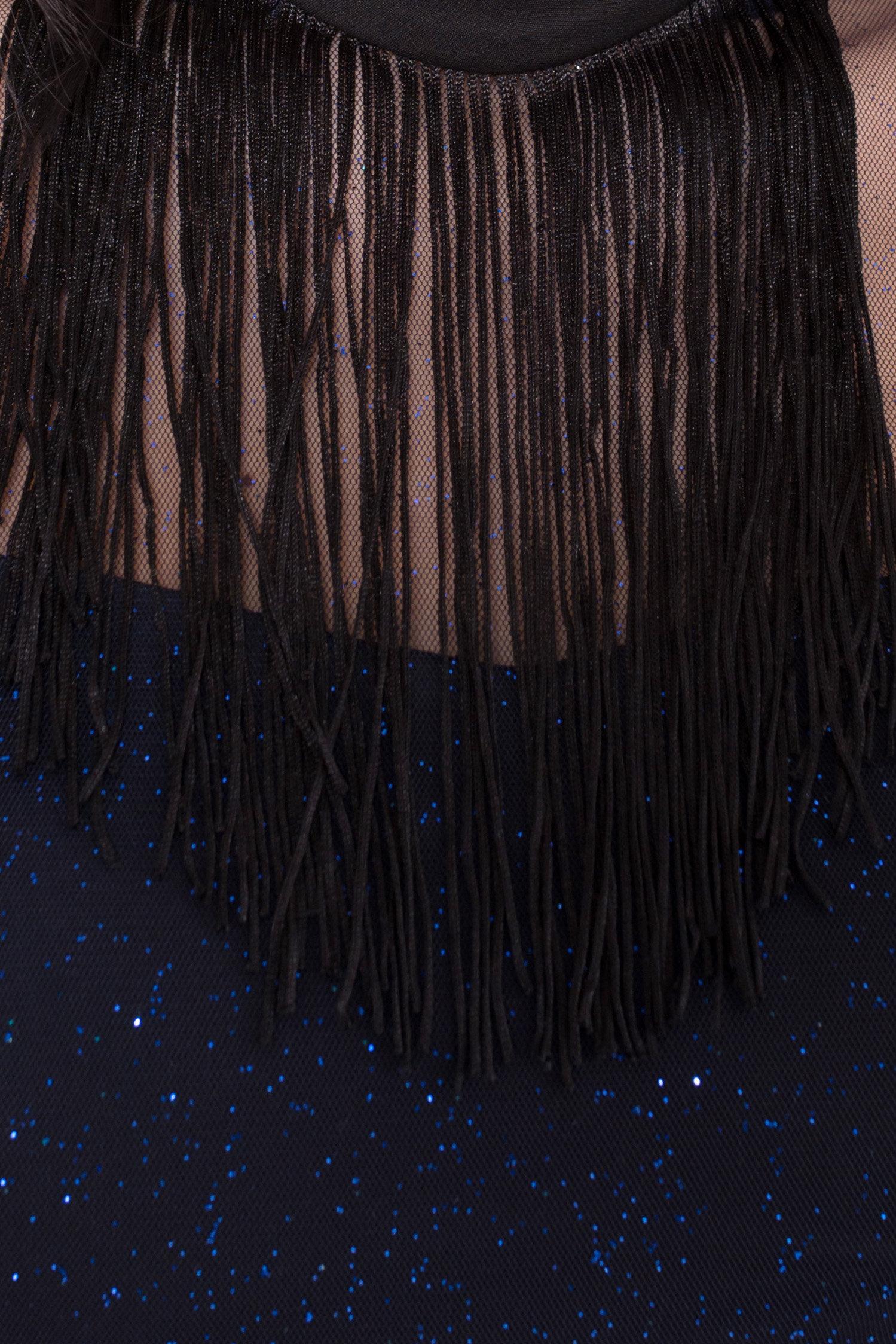 Платье-комбинезон Астия 8556 АРТ. 44951 Цвет: Черный/т.синий/электрик - фото 9, интернет магазин tm-modus.ru