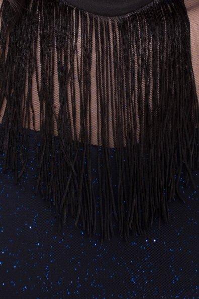 Платье-комбинезон Астия 8556 Цвет: Черный/т.синий/электрик