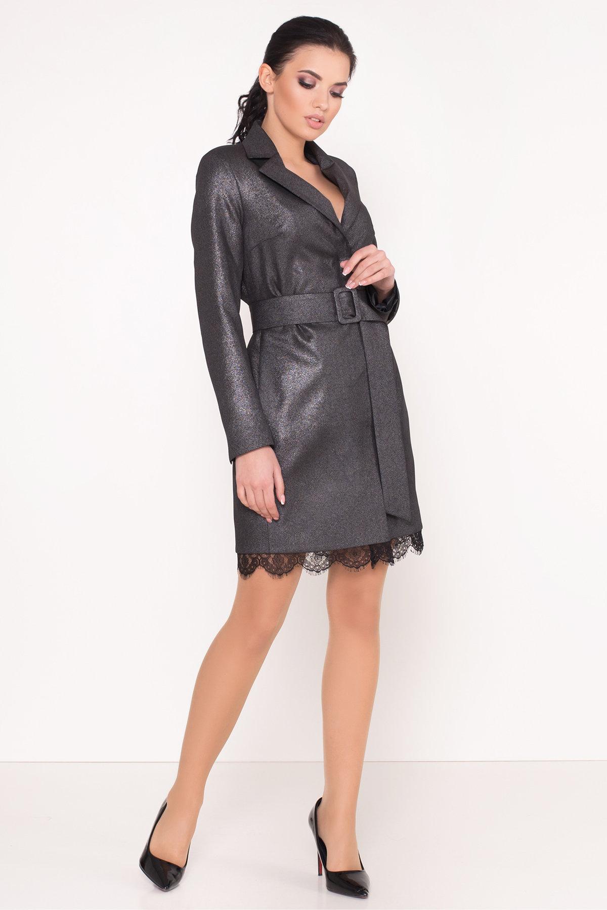 Платье-жакет Маренго 8587 АРТ. 44899 Цвет: Черный - фото 1, интернет магазин tm-modus.ru