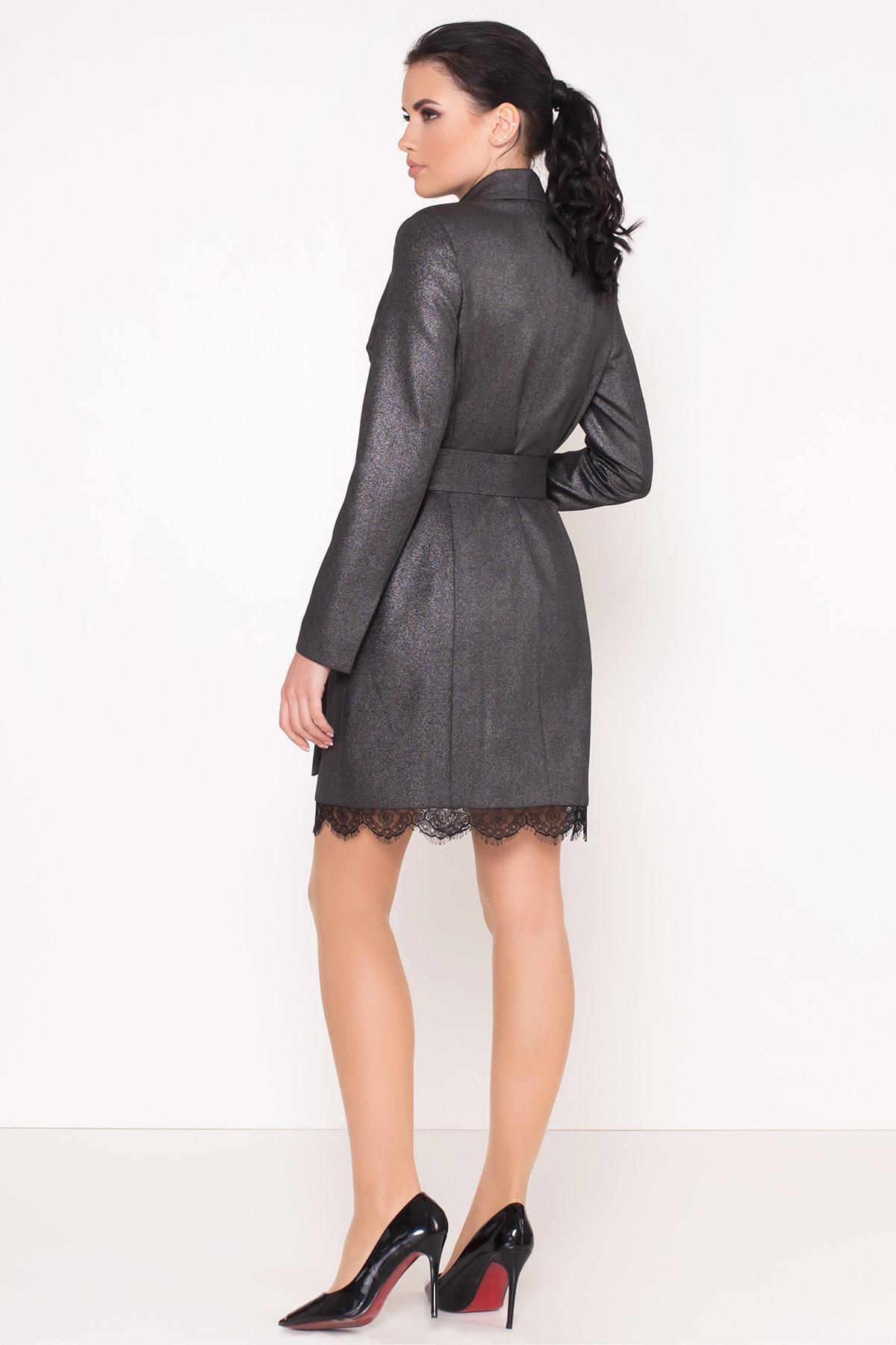 Платье-жакет Маренго 8587 АРТ. 44899 Цвет: Черный - фото 2, интернет магазин tm-modus.ru