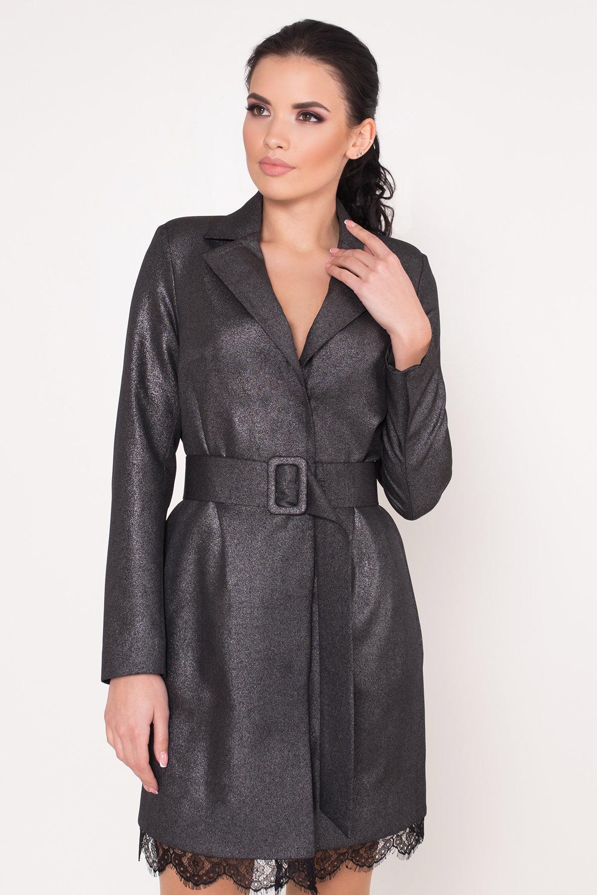 Платье-жакет Маренго 8587 АРТ. 44899 Цвет: Черный - фото 3, интернет магазин tm-modus.ru