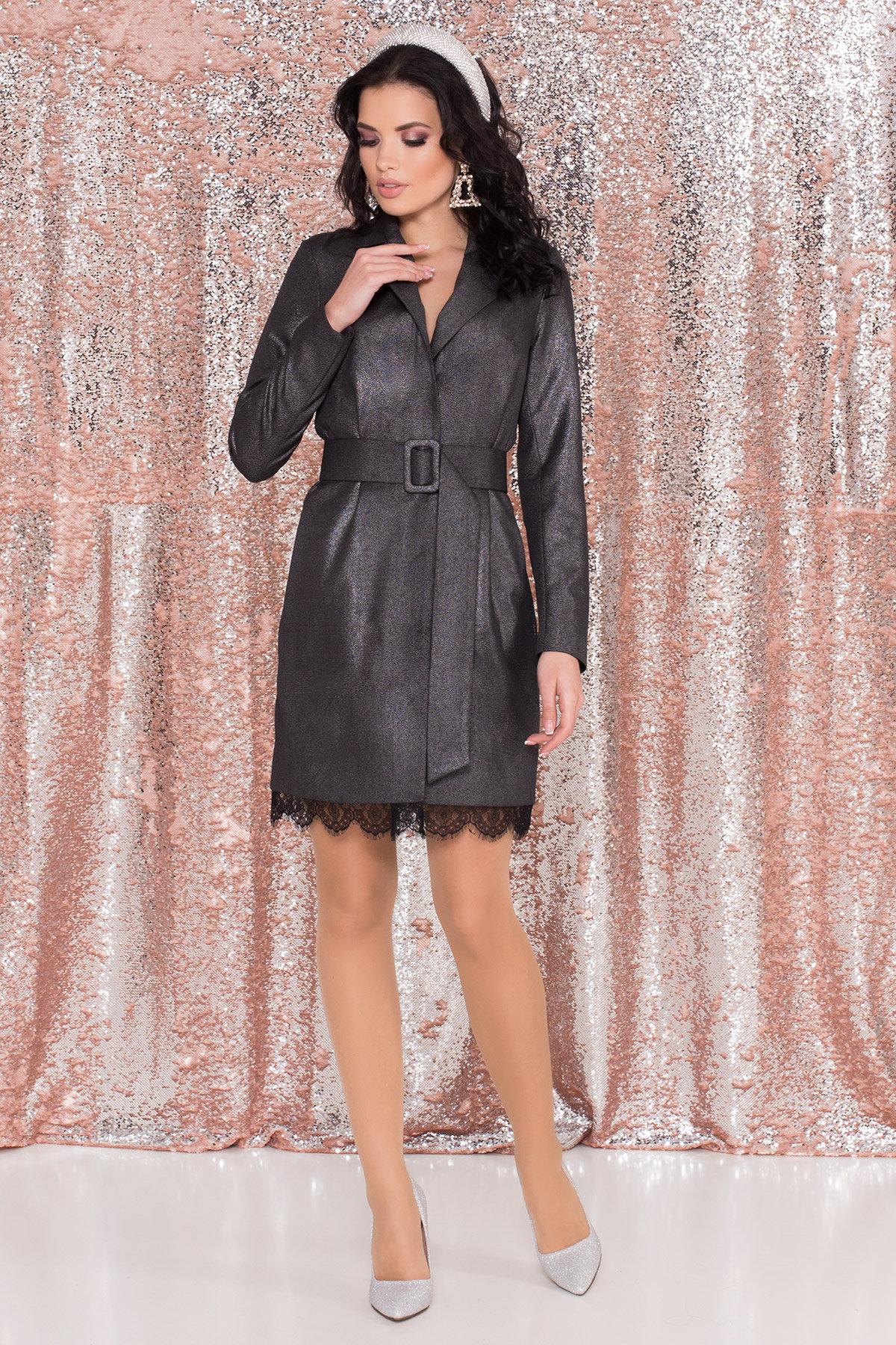Платье-жакет Маренго 8587 АРТ. 44899 Цвет: Черный - фото 4, интернет магазин tm-modus.ru