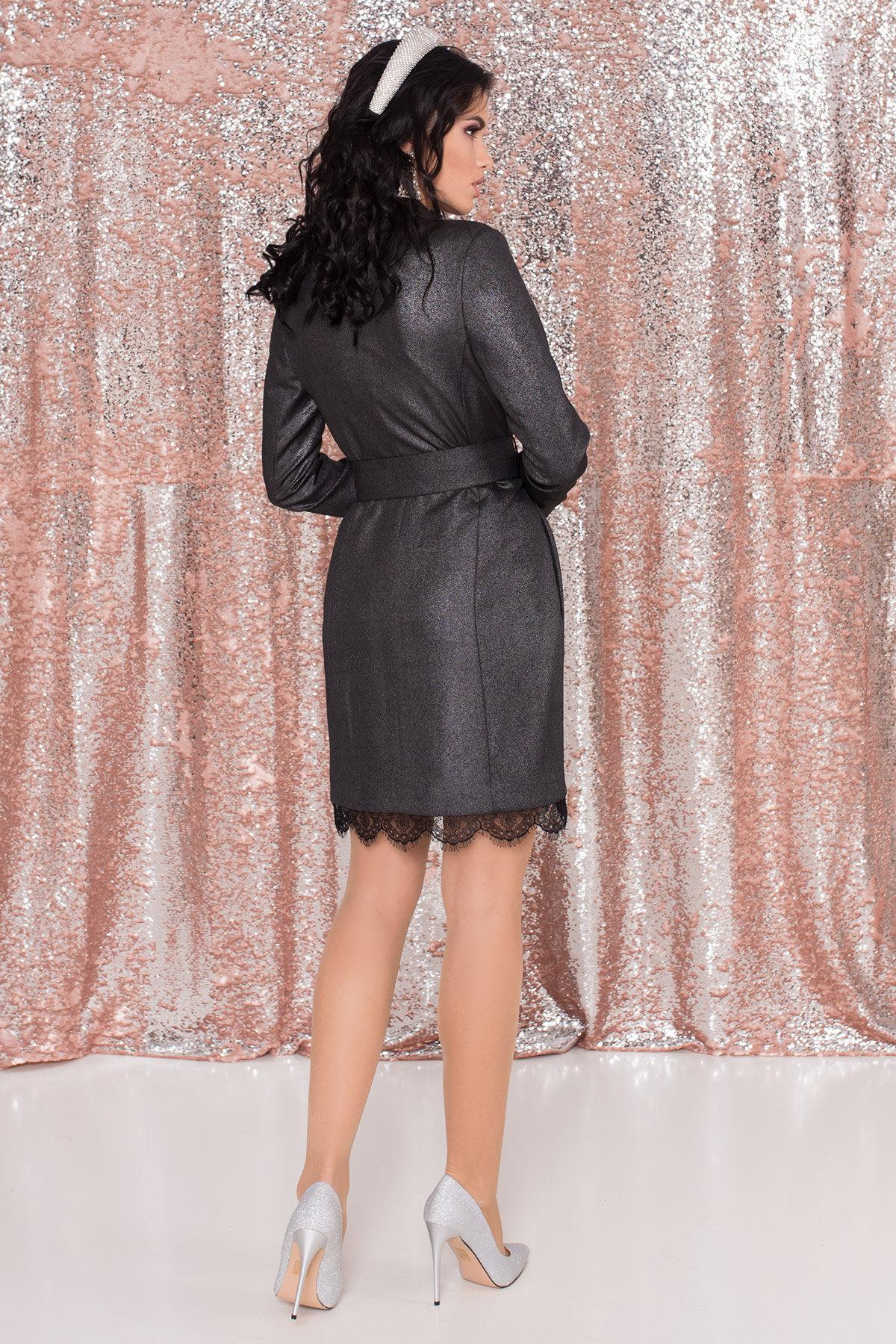 Платье-жакет Маренго 8587 АРТ. 44899 Цвет: Черный - фото 6, интернет магазин tm-modus.ru
