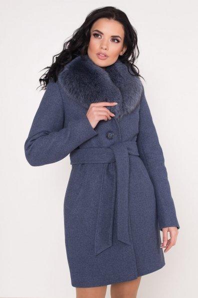 Зимнее пальто Камила 8465 Цвет: Джинс 41