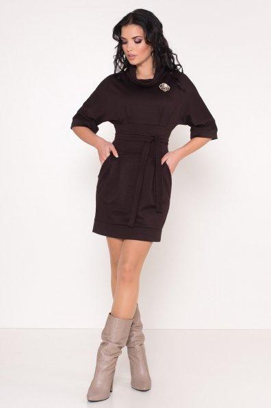 Трикотажное платье Вассаби 8478 Цвет: Шоколад