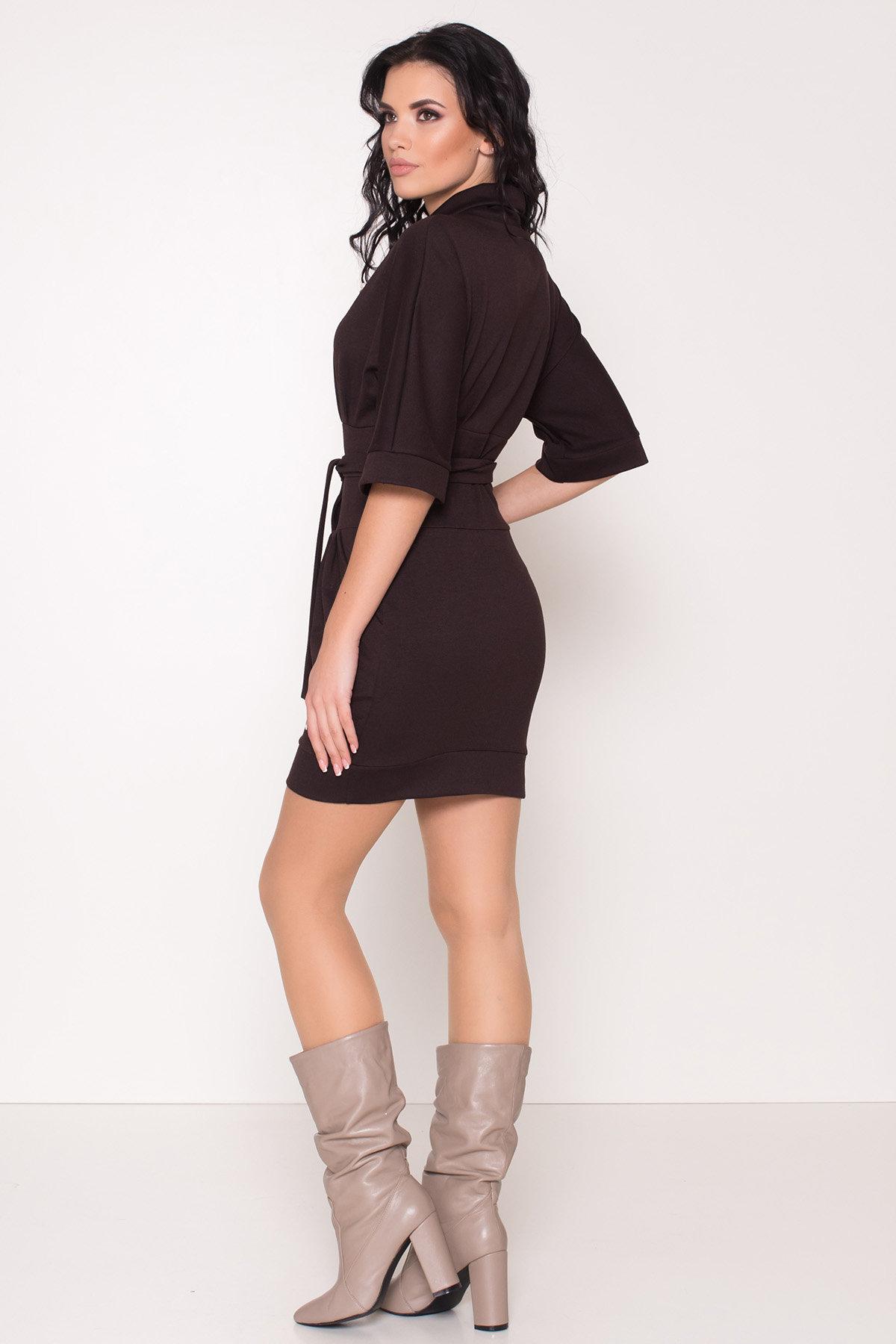 Трикотажное платье Вассаби 8478 АРТ. 44906 Цвет: Шоколад - фото 4, интернет магазин tm-modus.ru