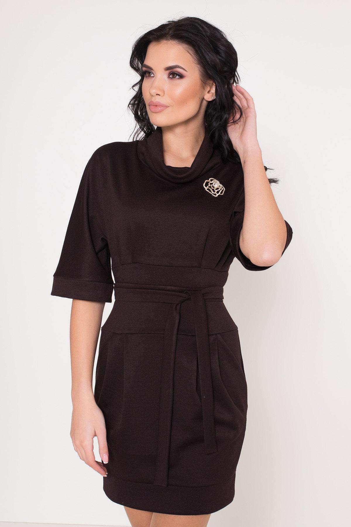 Трикотажное платье Вассаби 8478 АРТ. 44906 Цвет: Шоколад - фото 6, интернет магазин tm-modus.ru