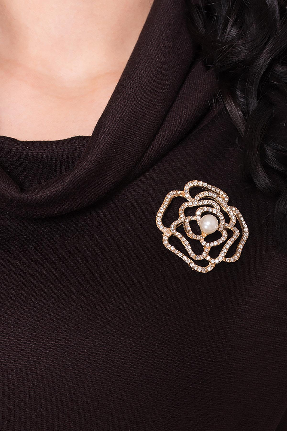 Трикотажное платье Вассаби 8478 АРТ. 44906 Цвет: Шоколад - фото 9, интернет магазин tm-modus.ru