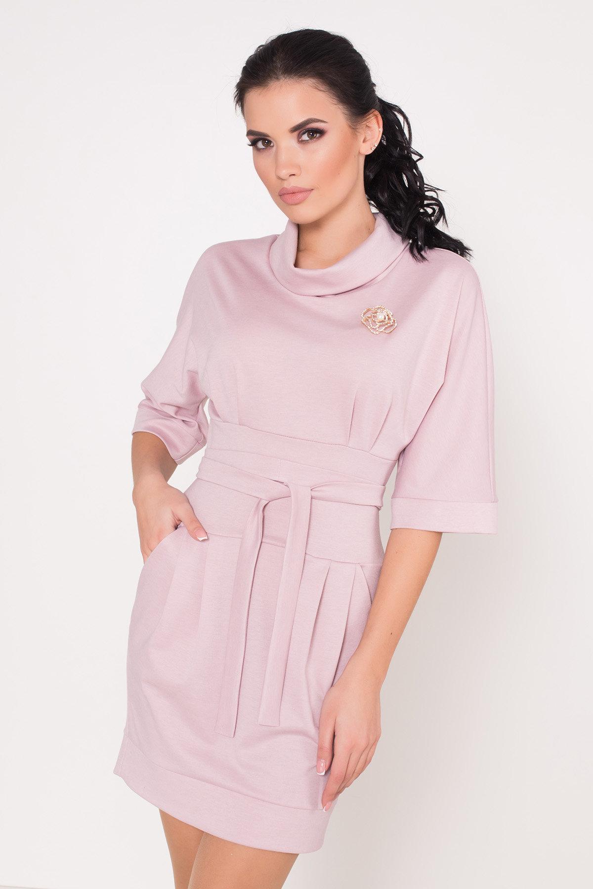Трикотажное платье Вассаби 8478 АРТ. 44904 Цвет: розовый - фото 1, интернет магазин tm-modus.ru