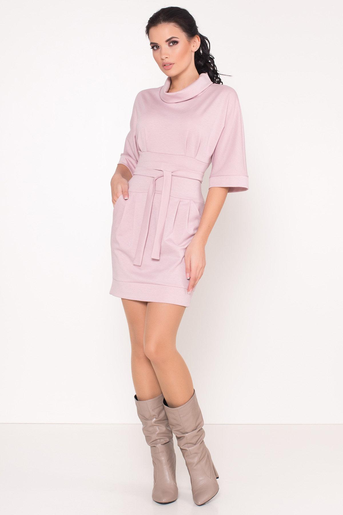 Трикотажное платье Вассаби 8478 АРТ. 44904 Цвет: розовый - фото 3, интернет магазин tm-modus.ru
