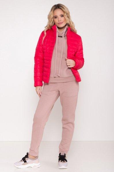 Стеганная демисезонная куртка Лоррейн 8445 Цвет: Красный