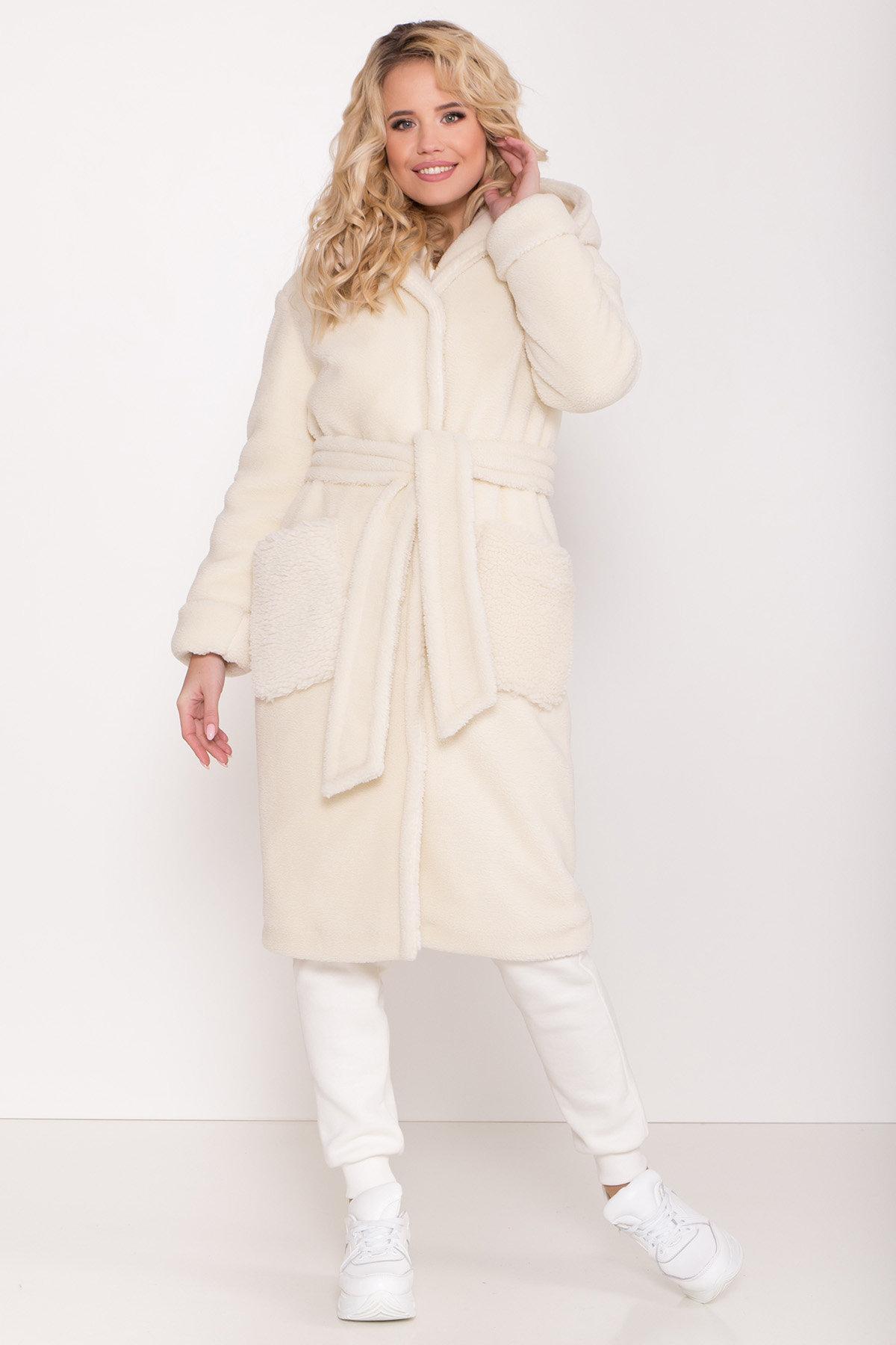 Пальто из искусственного меха Анита 8197 АРТ. 44955 Цвет: Молоко - фото 2, интернет магазин tm-modus.ru