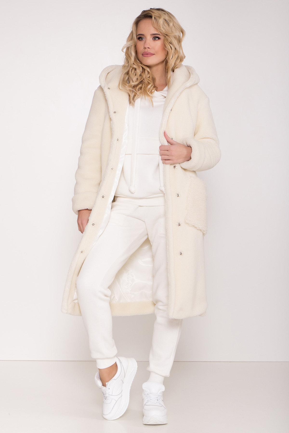 Пальто из искусственного меха Анита 8197 АРТ. 44955 Цвет: Молоко - фото 4, интернет магазин tm-modus.ru