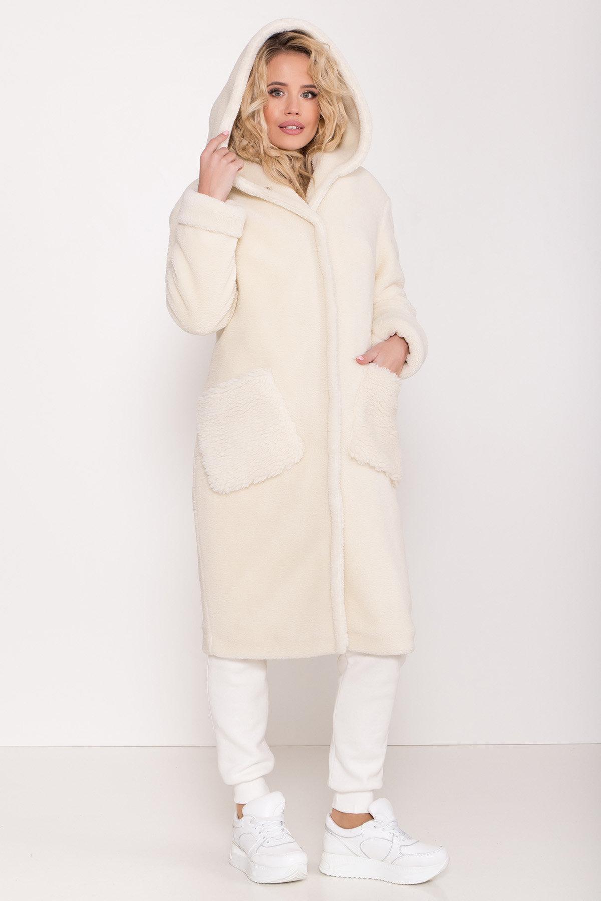 Пальто из искусственного меха Анита 8197 АРТ. 44955 Цвет: Молоко - фото 6, интернет магазин tm-modus.ru