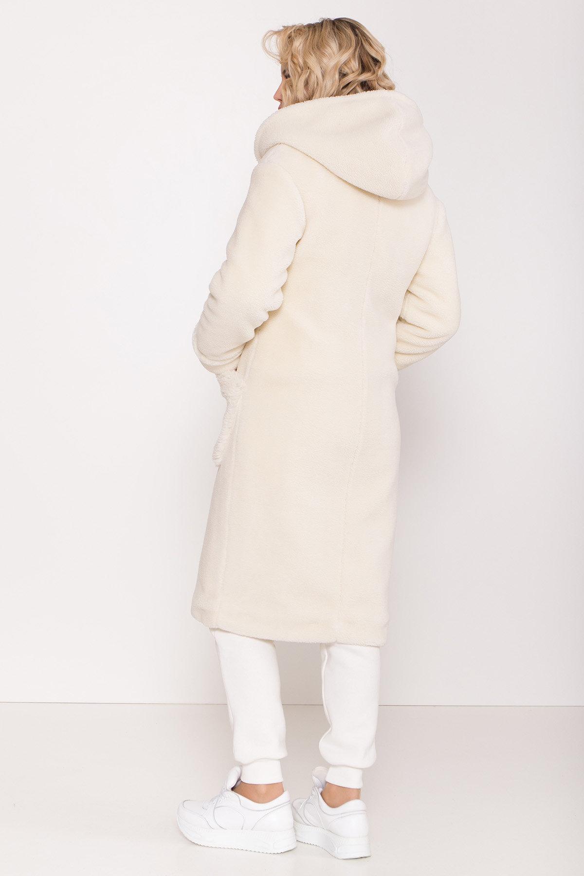 Пальто из искусственного меха Анита 8197 АРТ. 44955 Цвет: Молоко - фото 8, интернет магазин tm-modus.ru