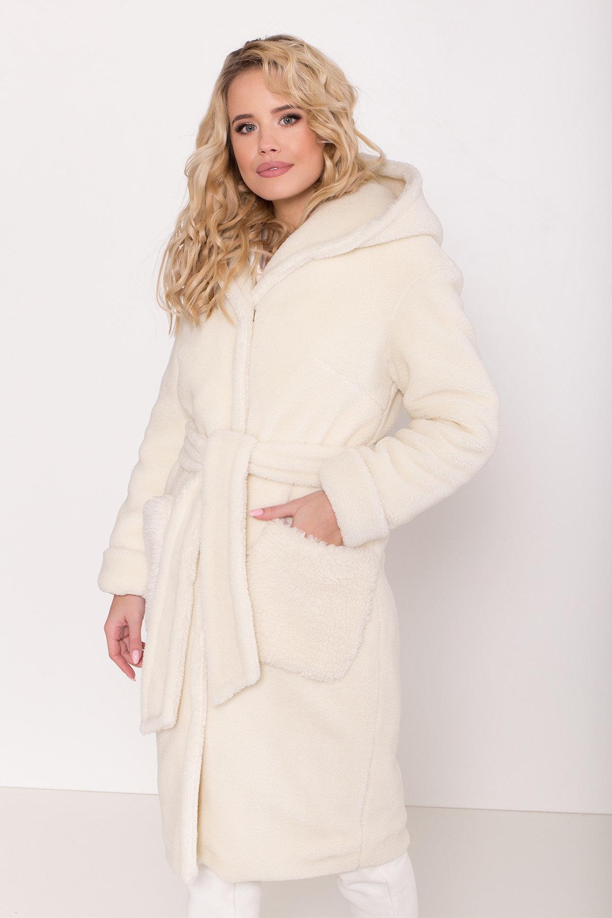 Пальто из искусственного меха Анита 8197 АРТ. 44955 Цвет: Молоко - фото 10, интернет магазин tm-modus.ru