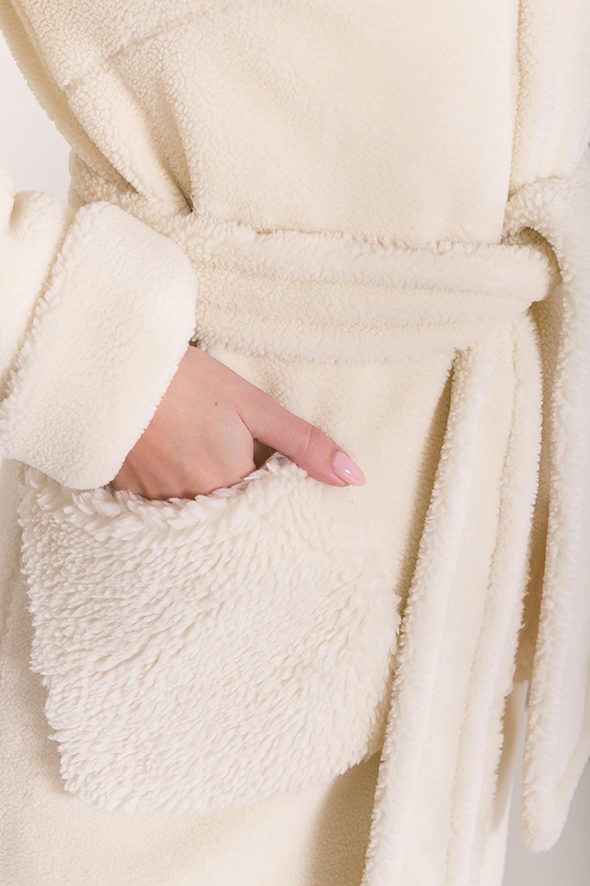 Пальто из искусственного меха Анита 8197 АРТ. 44955 Цвет: Молоко - фото 11, интернет магазин tm-modus.ru