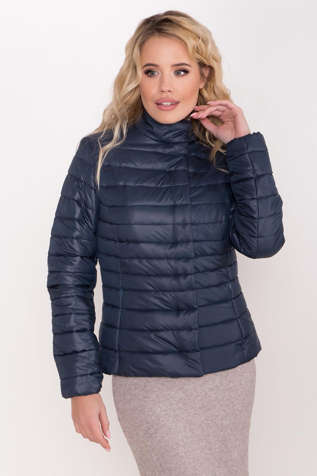 Стеганная демисезонная куртка Лоррейн 8445 Цвет: Т.зеленый