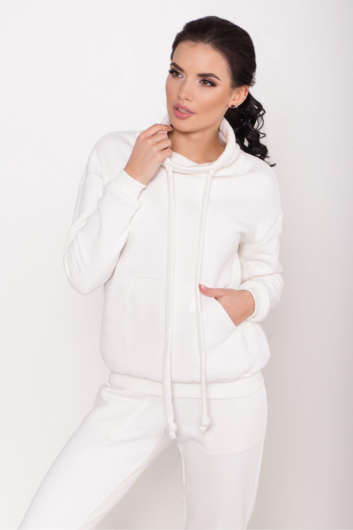 Стильный трикотажный костюм женский Фира 8590 АРТ. 44901 Цвет: Молоко - фото 2, интернет магазин tm-modus.ru