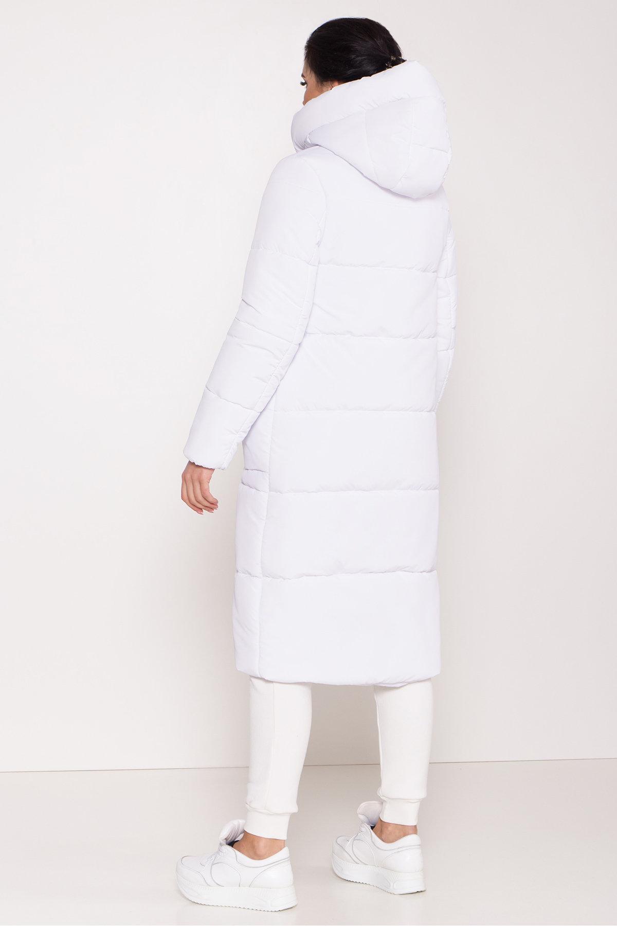 Удлиненный пуховик с накладными карманами Бланка 8622 АРТ. 44960 Цвет: Белый - фото 3, интернет магазин tm-modus.ru