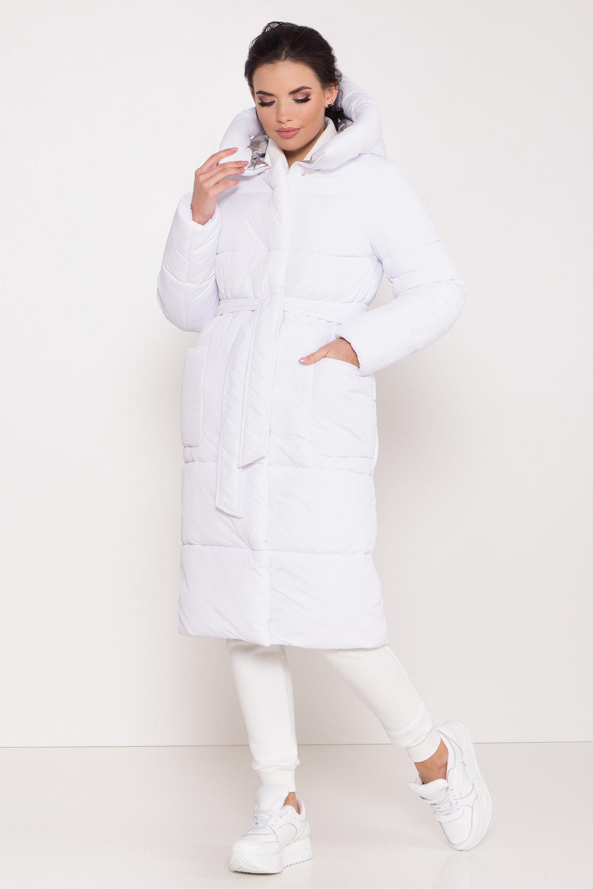 зимние женские пуховики Удлиненный пуховик с накладными карманами Бланка 8622